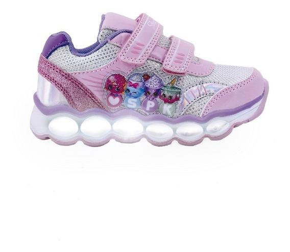 Zapatillas De Niños Con Luces Shopkins Shx603 Cro