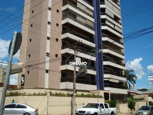 Apartamento Com 3 Dormitórios, 160 M² - Venda Por R$ 480.000,00 Ou Aluguel Por R$ 2.400,00/mês - Centro - Ribeirão Preto/sp - Ap3509