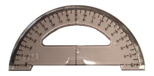 Imagem 1 de 2 de Transferidor Braille Tátil  Baixa Visão 180 Graus