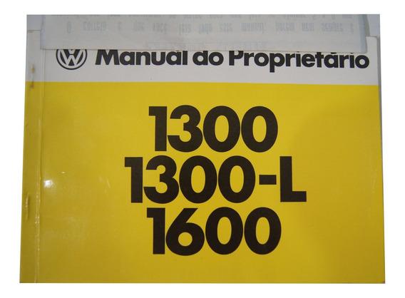 Manual Do Proprietário Fusca 1300 1300l 1600