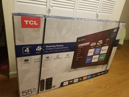 Imagen 1 de 3 de Tcl 55s405 55 4k Led Roku Smart Tv - Black
