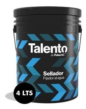 Sellador Interior Exterior 4 Lts Polacrin Talento Al Agua