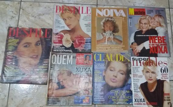 Xuxa Colecao 08 Revistas Raras Claudia Desfile Quem Manequin