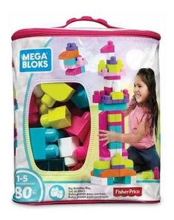 Mega Blocks Bolsa Para Construir Rosada - Original