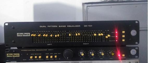 Pre Amplificador Awp7 E Equalizador Ge152 Advance
