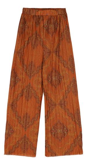 Pantalón Plisado Wide Leg De Mujer C&a 1050342