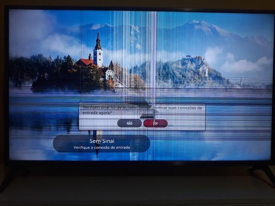 Smart Tv LG 43 Uj6565 Com A Tela Quebrada