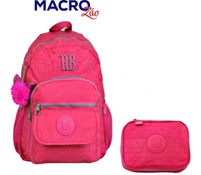 Kit Mochila Rebecca Bonbon Rb9130 Estojo Clio Original