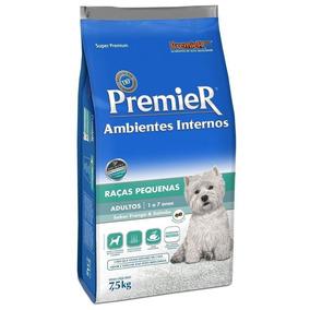 Ração Premier Ambientes Internos Cães Adultos Raças P 7,5 Kg
