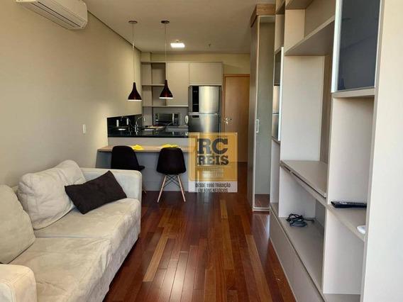 Apartamento Com 1 Dormitório Para Alugar, 45 M² Por R$ 2.600,00/mês - Alphaville - Santana De Parnaíba/sp - Ap1216