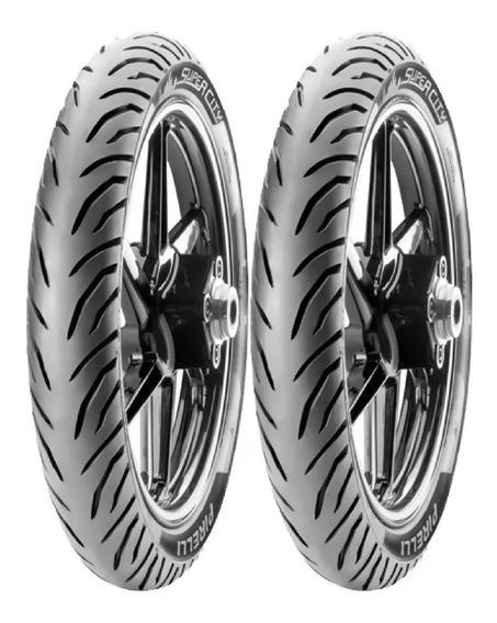 Par De Pneus Pirelli 90/90/18 + 100/90-18 Titan Fan + Largo