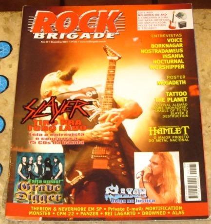 Rock Brigade N 185 Slayer Poster Megadeth 2001
