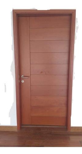 Puerta Contraplacada Principal En Madera Cedro Tornillo Pino