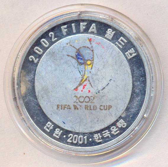 Moneda Onza Plata 999 Corea Del Sur 2001 Mundial Corea-japon