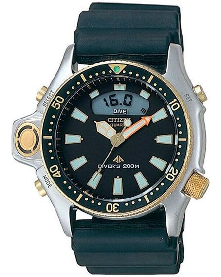 Relógio Citizen Aqualand Jp2004-07e / Tz10137t Serie Ouro