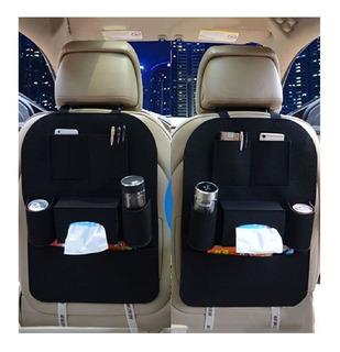2 X Organizador De Asiento Respaldo Trasero De Auto Porta Botella Porta Objetos Celular Tablet Y Muchas Cosas Mas- Lanús