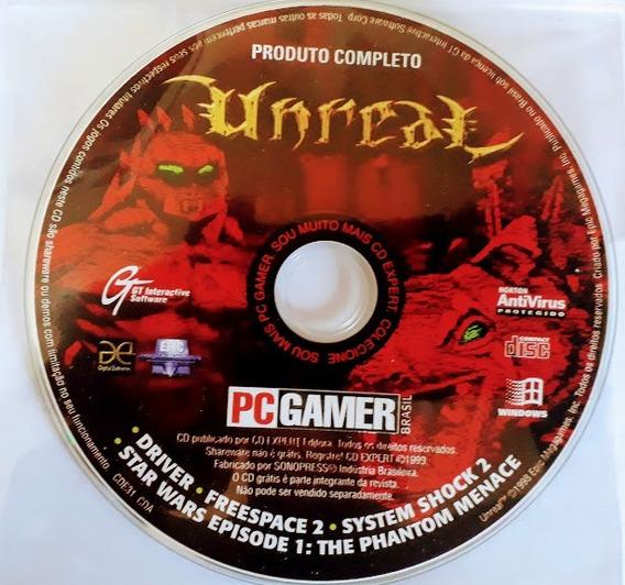 Cd Original Do Jogo Unreal P/ Computador Da Revista Pc Gamer