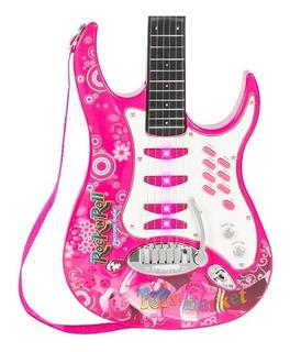 Guitarra Electrica Rock Con Cuerdas Microfono Y Amplificador