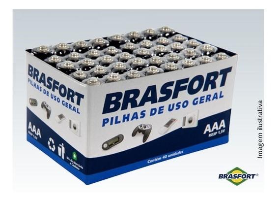 Pilha Palito Uso Geral Aaa 1,5 V Brasfort- 15 Cartelas Cx