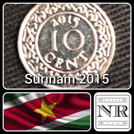 Surinam - 10 Cents - Año 2015 - Km # 13 A - Escudo
