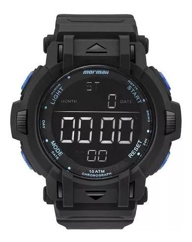 Relógio Mormaii Digital Mom08111b8a Preto/azul