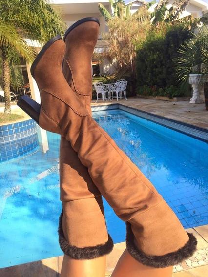 Bota Feminina Cano Longo Bota Over Salto Pelo Lançamento 609