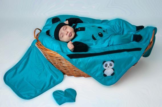Kit Saída De Maternidade Bebê Panda