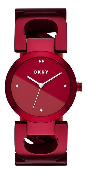 Reloj Dama Dkny Ny2772 Color Rojo De Acero
