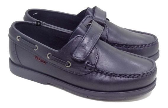 Zapatos Náuticos Marcel Abrojos Escolares Cuero Colegiales