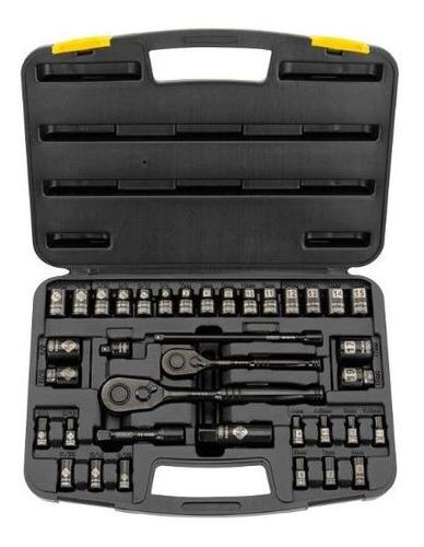 Set Mecánico Cromo Negro 37 Pzas. Stanley 87-320