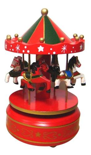 Carrusel Musical De Cuerda Elegante Colores Idela Regalo
