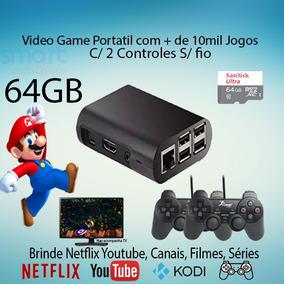 Video Game Retro 64gb 2 Controles C/ 10mil Jogos Com Netflix