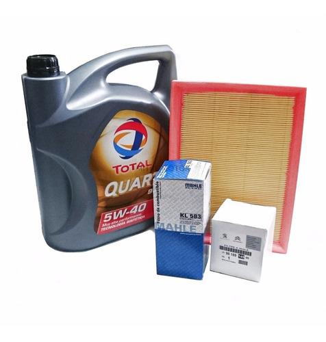 Kit Filtros Citroen C4 2.0 16v + Aceite Quartz 9000