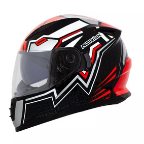 Capacete Norisk Ff302 Wizard Black/red/white