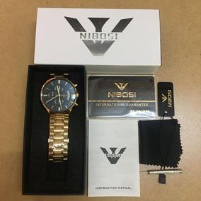 Relógio Nibosi 1985 Com Caixa, A Prova D Água, Varias Cores