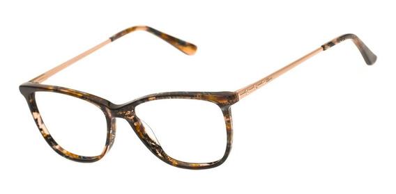 Armação Oculos Ogrife Og 2019-c Feminino Com Lente Sem Grau