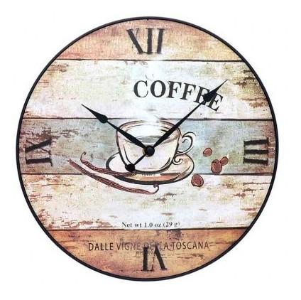 Reloj De Pared Free Home 30 Cm Café Reloj De Pared F Tk344