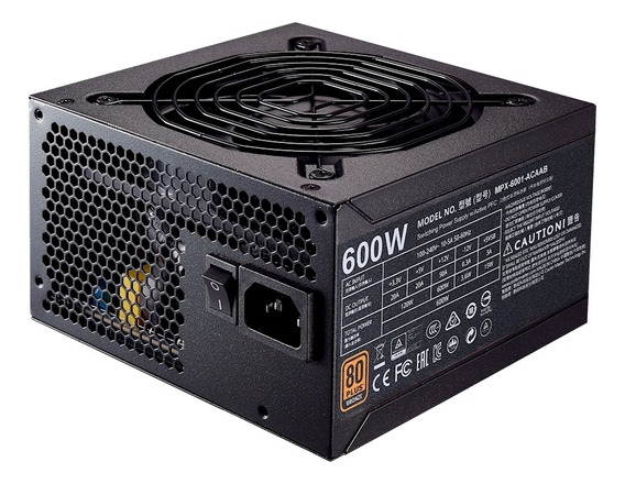 Fonte Cooler Master Mwe Bronze 600w 80 Plus Bronze Mpx-6001-acaab-br