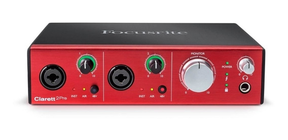 Interface De Áudio Thunderbolt Focusrite Clarett 2pre Isa