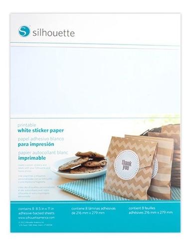 Imagen 1 de 1 de Silhouette Printable White Sticker Paper Blanco