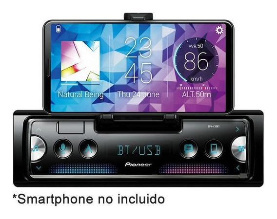 Oficial Pioneer Sph-c10bt Bluetooth Usb Android Apple Smart