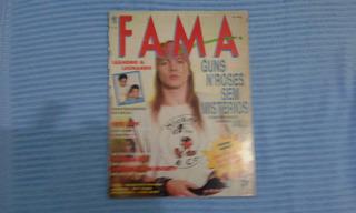 Revista Fama Anos 90 Axel Rose Guns N Roses