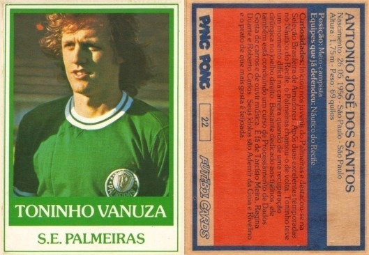 Futebol Cards Ping Pong Nº 022 - Toninho Vanuza Palmeiras
