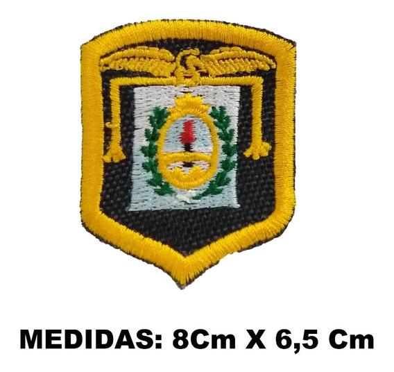 Escudo Parche Regimiento De Montaña Bordado Amarillo Boina