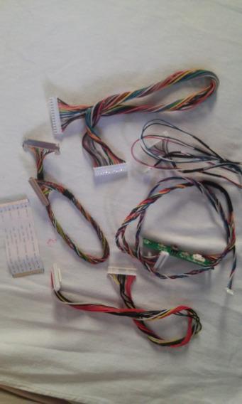 Kit Cabo Flat + Sensor + Conectores Tv Aoc Le32w157