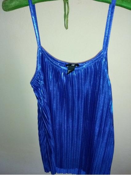 Top/elegante Azul H&m Talle:s Nuevo