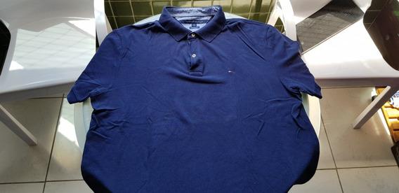 Camisa Polo Tommy Azul Xl Pouco Usada Original Comprada Eua