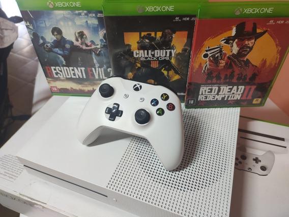Xbox One S 1tb 4k + 3 Jogos