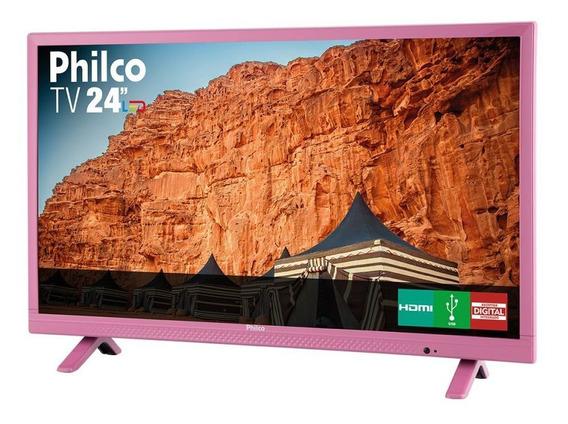 Tv Led 24 Rosa Philco Bivolt Ph24e30dr