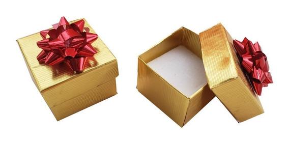 Caja Para Regalo Colores Chica Para Anillo Con Moño Colores